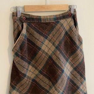 60s vintage plaid midi skirt!